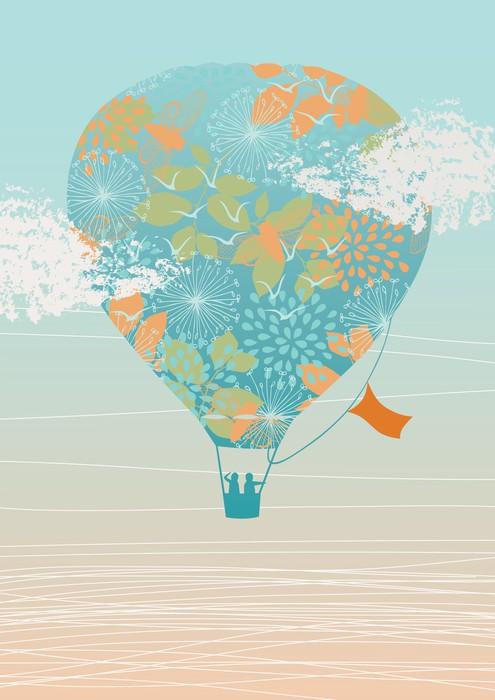 Vinylová fototapeta Air Balloon in the Sky - Vinylová fototapeta