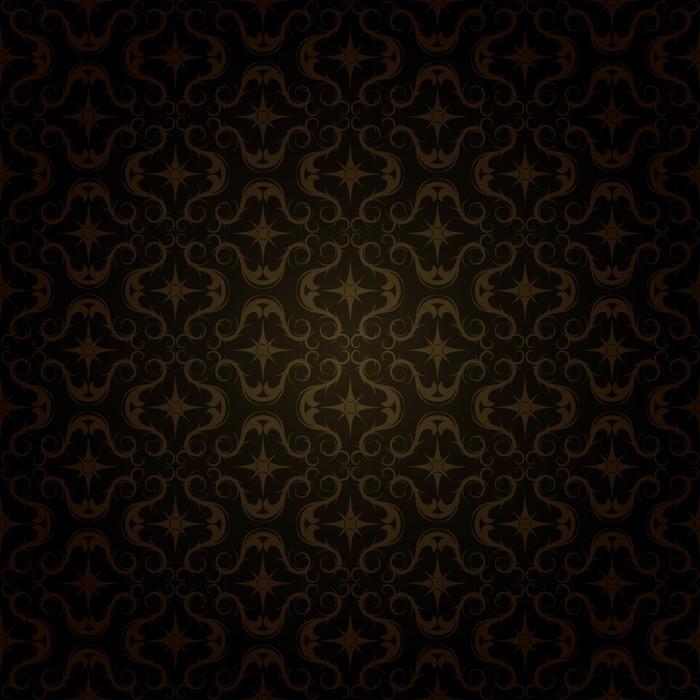 Vinylová Tapeta Tmavá zlatá vzor - Pozadí