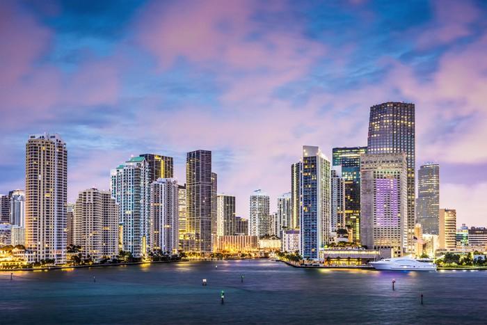 Vinylová Tapeta Miami, Florida skyline - Témata