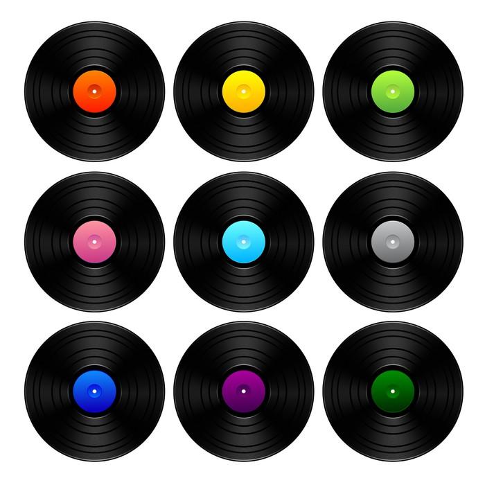 Fototapete Vintage Vinyl-Set • Pixers® - Wir leben, um zu verändern