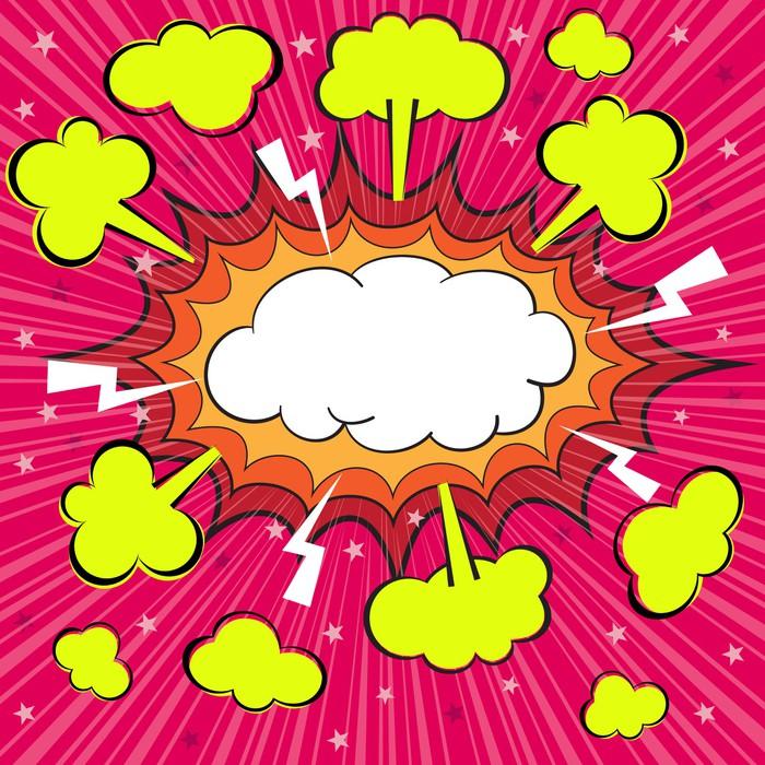 Vinylová Tapeta Boom prázdný comic speech bubble, vektorové ilustrace - Umění a tvorba