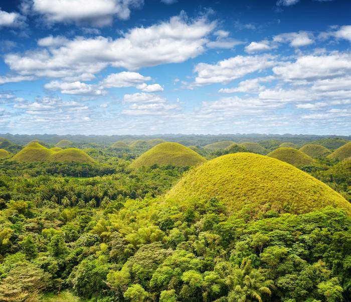 Vinylová Tapeta Čokoládové kopce na ostrov Bohol, Filipíny - Asie