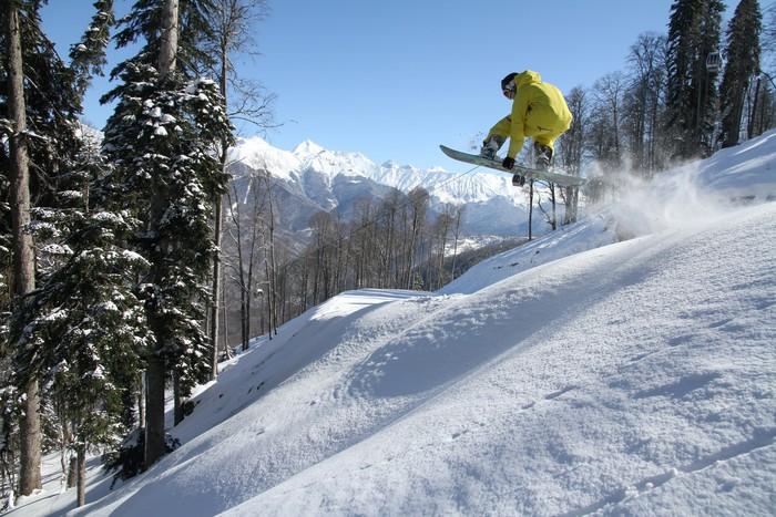 Vinylová Tapeta Snowboard freerider - Témata