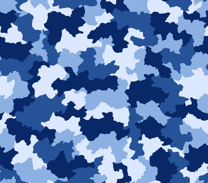 Blue camouflage seamless pattern wall mural pixers we for Camouflage mural