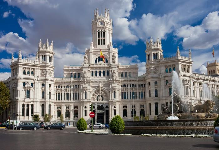 Vinylová Tapeta Palác v Madridu - Evropská města