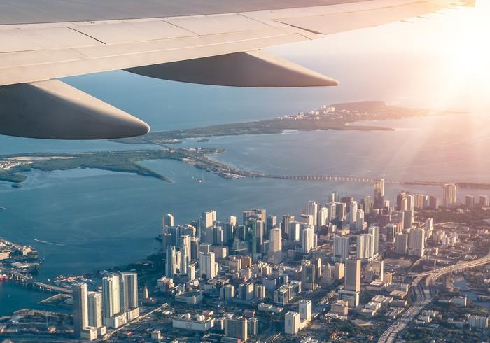Vinylová fototapeta Miami panorama z letadla - Vinylová fototapeta