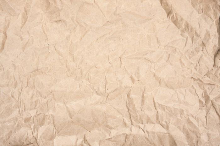 Papier peint vinyle Papier kraft froissé - Textures