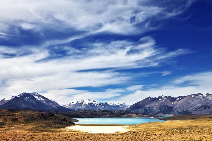 Vinylová Tapeta Jezero v údolí - Voda