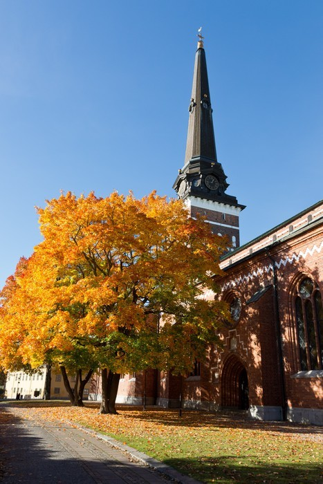 Vinylová Tapeta Pohled na katedrálu Västerås - Evropa