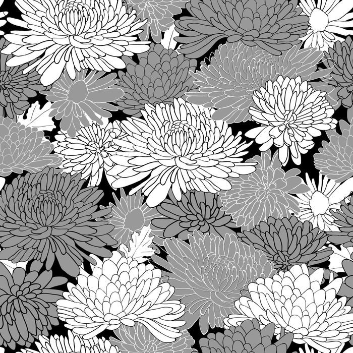 papier peint motif floral fond avec chrysanth me pixers nous vivons pour changer. Black Bedroom Furniture Sets. Home Design Ideas