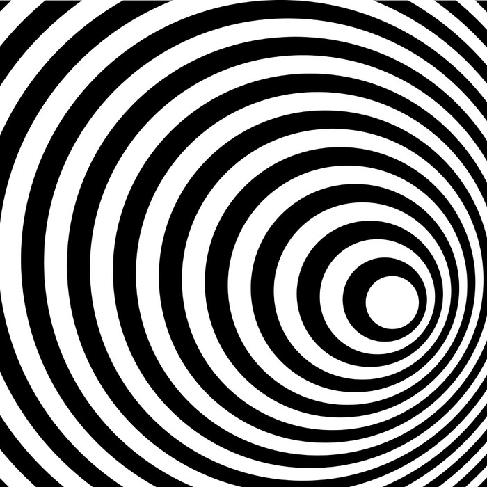tableau sur toile r sum anneau en spirale noir et blanc de fond pixers nous vivons pour. Black Bedroom Furniture Sets. Home Design Ideas