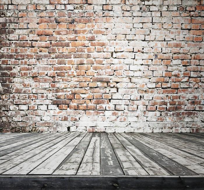 papier peint ancienne chambre avec mur de brique � pixers