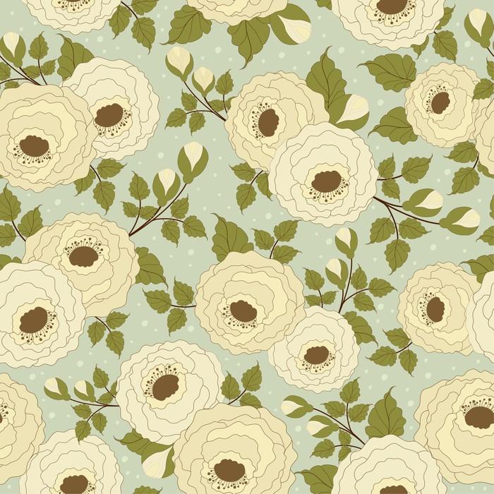 Vinylová Tapeta Bezešvé květinový vzor - Květiny