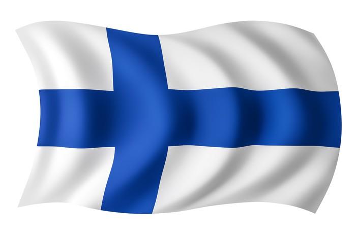 Finland flag finnish flag pixerstick sticker holidays