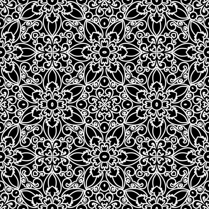 papier peint motifs dentelle blanche sur fond noir ornement motif sans couture pixers. Black Bedroom Furniture Sets. Home Design Ideas