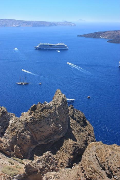 Vinylová Tapeta Řecko - Santorini - Evropa