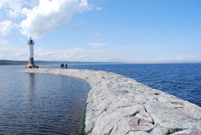 Vinylová fototapeta Baltské pobřeží panorama, maják - Vinylová fototapeta