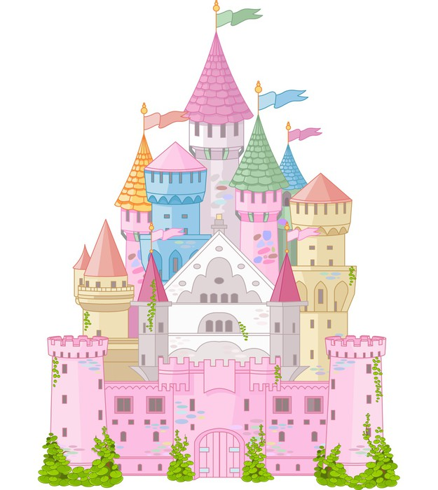 Fairy tale castle wall mural pixers we live to change for Fairy castle wall mural