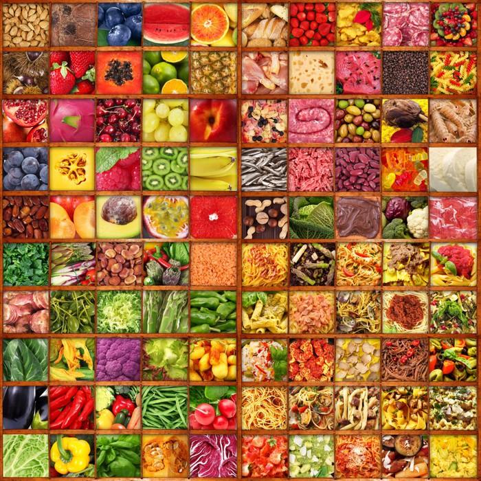 Fotomural Comer en el tablón de anuncios del collage • Pixers ...