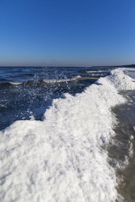 Vinylová Tapeta Icy Baltského moře. - Roční období