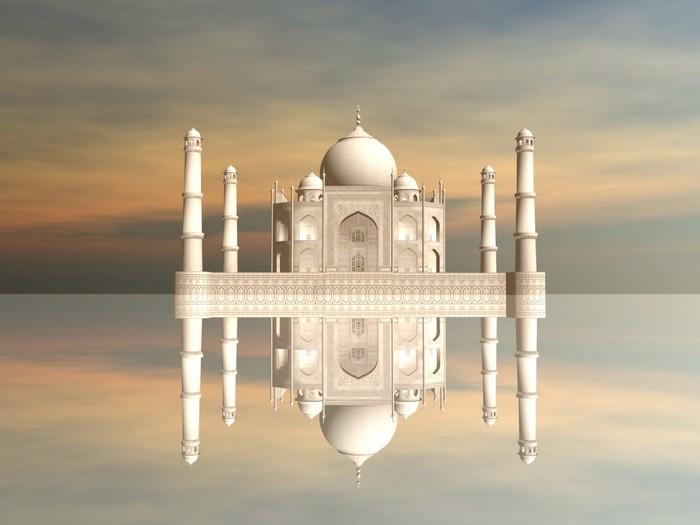 Vinylová Tapeta Taj Mahal mausoleum, Agra, Indie - 3D vykreslování - Asie
