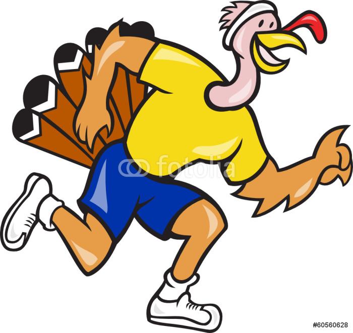 Vinylová Tapeta Turkey Run Runner Side Cartoon - Individuální sporty