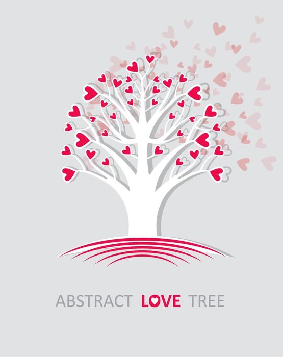 Vinylová Tapeta Abstraktní strom lásky. - Mezinárodní svátky