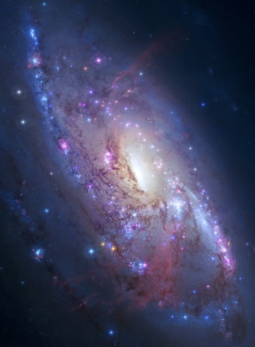 Spiral galaxy in deep space elements of image furnished by nasa pixerstick sticker universe