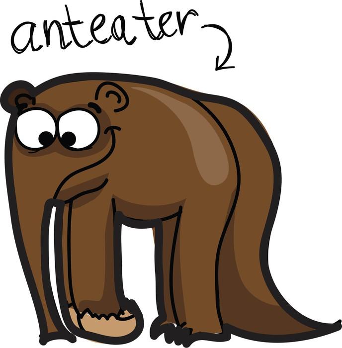 Carta da Parati a Motivi in Vinile Cartoon simpatico formichiere - Mammiferi