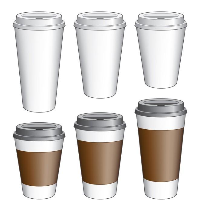 Vinylová Tapeta Coffee To Go poháry - Prodej
