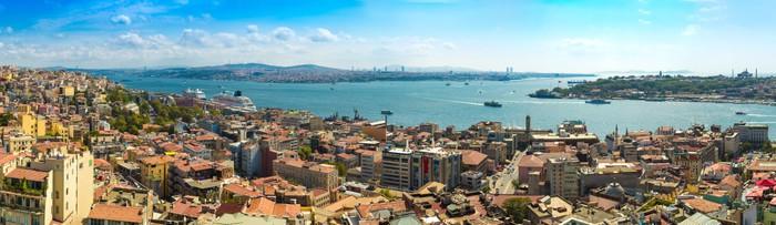 Vinylová Tapeta Istanbul panoramatický pohled z věže Galata. Turecko - Panorama