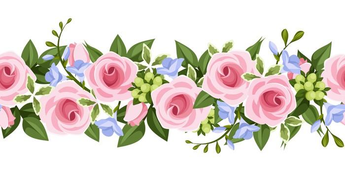 Flores Vectoriales Con Fondo Transparente: Vinilo Pixerstick Fondo Transparente Horizontal Con Las