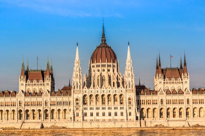 Vinylová Tapeta Řetězový most a maďarský parlament, Budapešť, Maďarsko - Evropa