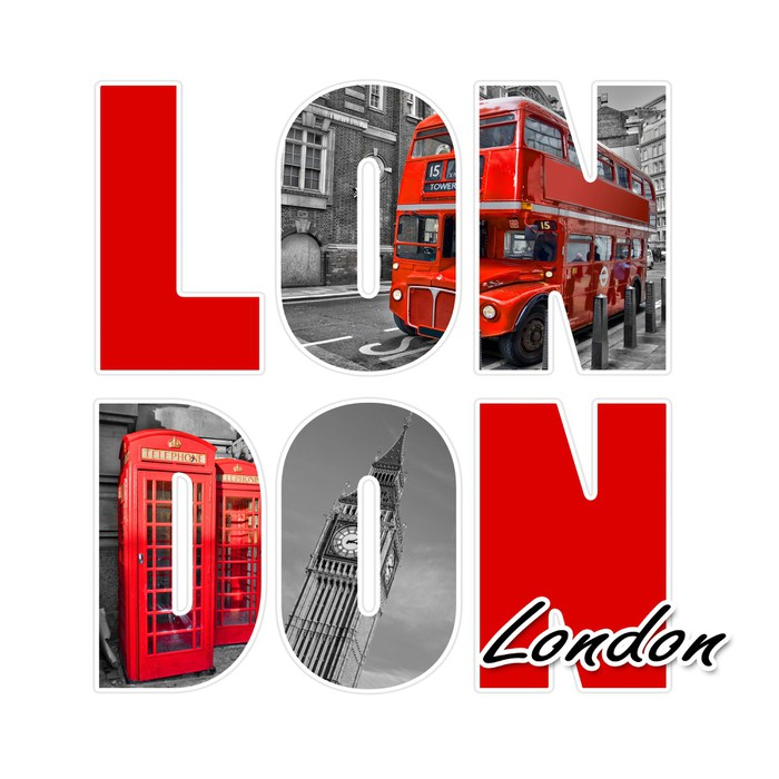 london isolated on white wall decal