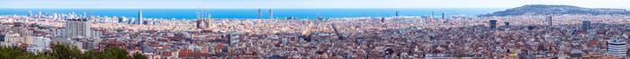 Vinylová Tapeta Top panoramatický pohled na Barcelona - Evropská města