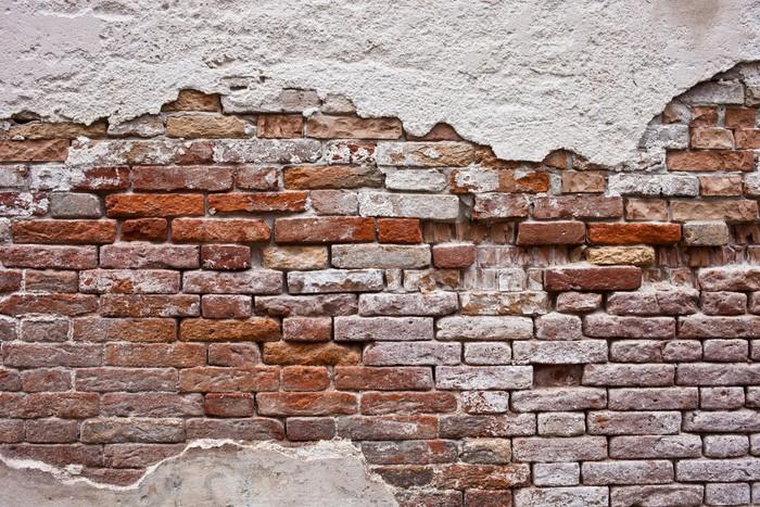 Carta da parati muro di mattoni pixers viviamo per il for Carta da parati effetto muro mattoni