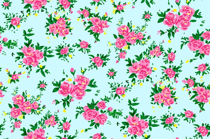 Papier Peint Shabby Chic Fond Rose