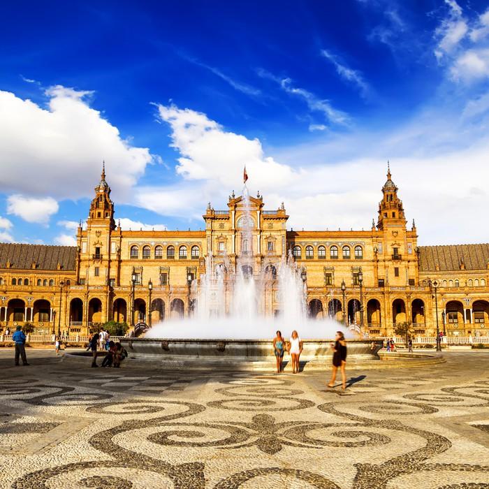Vinylová Tapeta Spanish Square (Plaza de España) v Seville, Španělsko - Evropská města