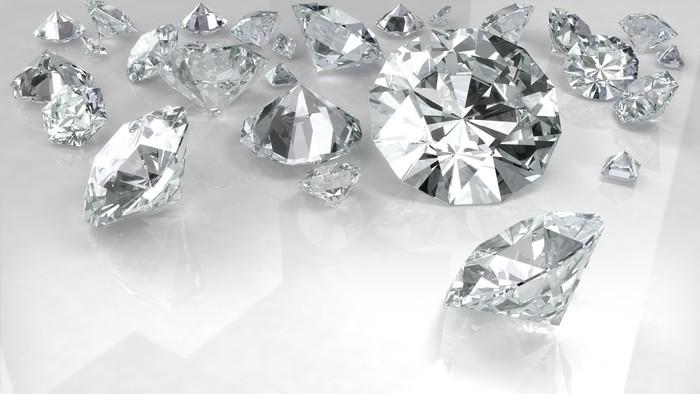 Vinylová Tapeta Diamanty na bílém - Úspěch