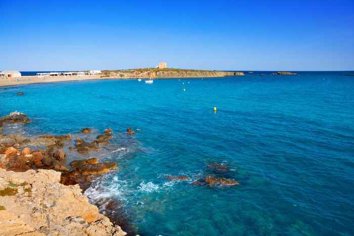 Vinylová Tapeta Tabarca Alicante středozemí ostrova modré moře - Evropa