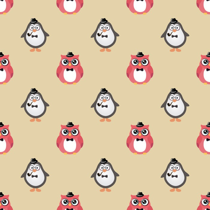 Papier peint hipster oiseaux mignons vecteur de fond for Kitchen cabinets lowes with poser papier peint