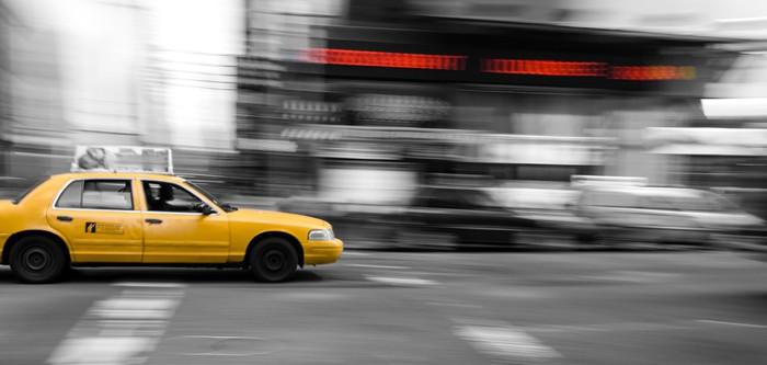 Sticker Pixerstick New York Taxi Cab - Villes américaines