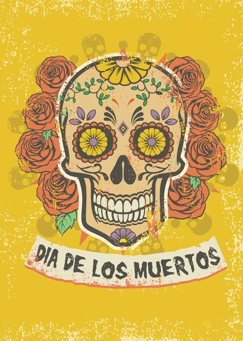 dia de los muertos poster Wall Mural • Pixers® • We live to change