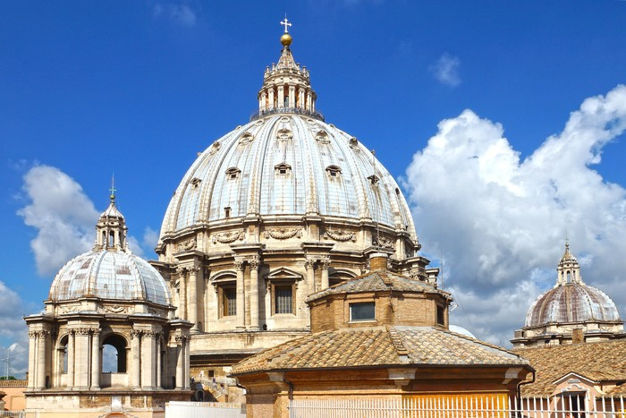 Vinylová Tapeta Kopule svatého Petra ve Vatikánu, Řím, Itálie - Evropská města