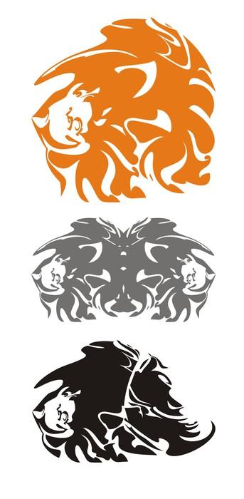 Vinylová Tapeta Kmenové lví hlavy - Život