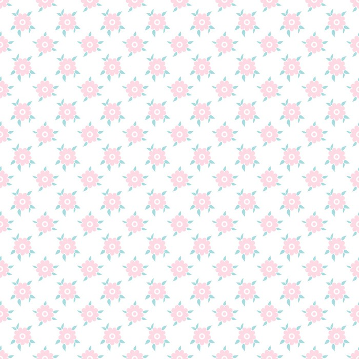 Light floral romantic vector pattern (tiling) Wall Mural • Pixers ...