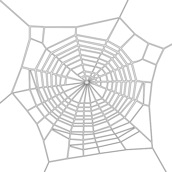 Fototapete Comic Bild Von Spinnennetz Pixers Wir