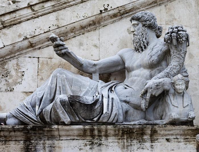 Vinylová fototapeta Socha řeky Tibery v Capitolium. - Vinylová fototapeta
