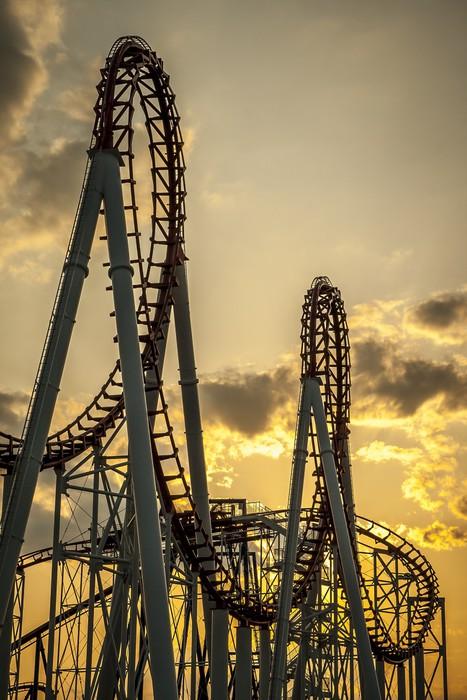 Roller Coaster Lever : Dekor roller coaster på sunset pixers vi lever för