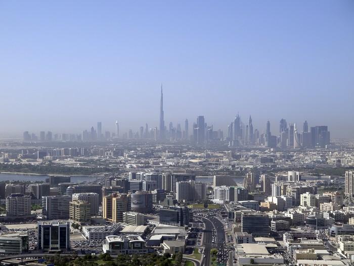 Vinylová fototapeta Pohled na Dubaj - Vinylová fototapeta